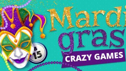 Mardi Gras Bingo Promo
