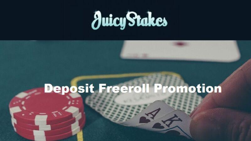 Deposit Freeroll Promotion